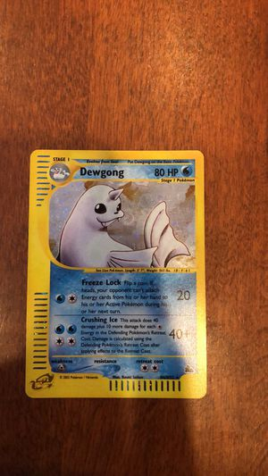 Dewgong Holo Rare Pokemon Trading Card for Sale in Brookeville, MD