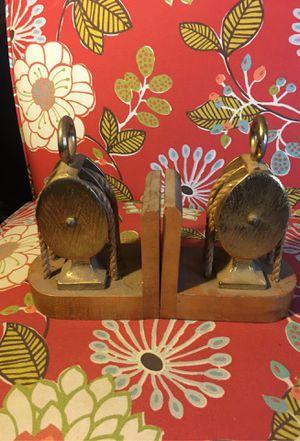 Vintage pulley wheel book shelf holders for Sale in Beaverton, OR