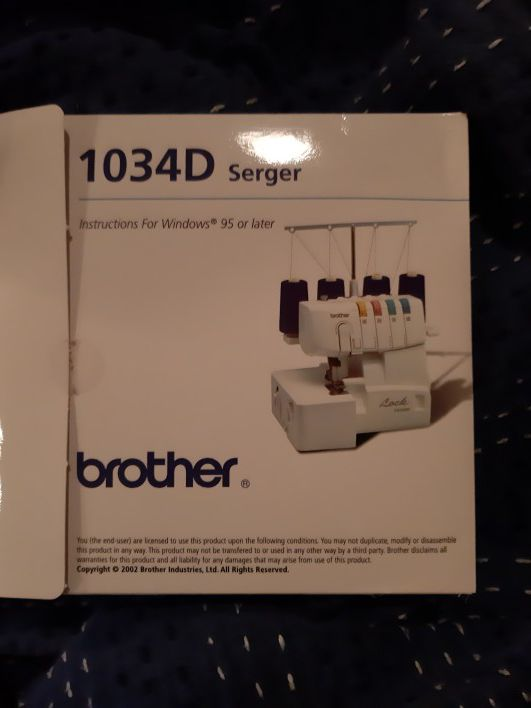Brother 1034D Serger Sewing Machine- Brand New