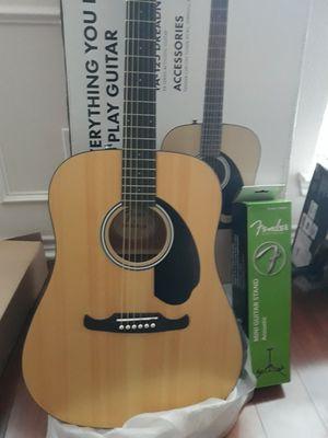 Fender FA-125 Dreadnought Acoustic Guitar w/ Bonus Accesories. for Sale in Murphy, TX
