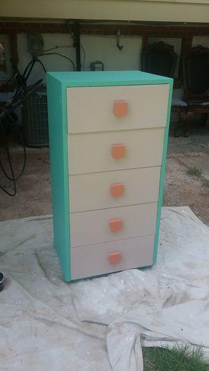 1970 solid wood 5 drawer dresser restored for Sale in Rockville, MD