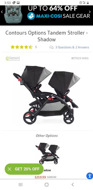 Countors double stroller retail $250 for Sale in Arvada, CO