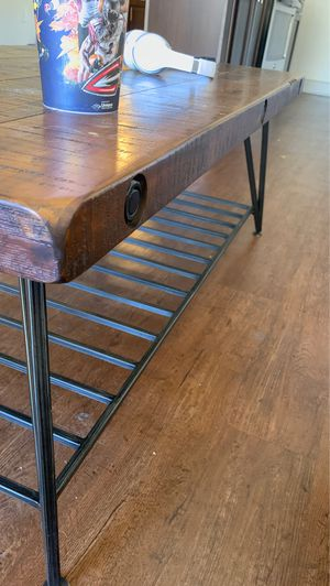 Wood/iron coffee table for Sale in Englewood, CO