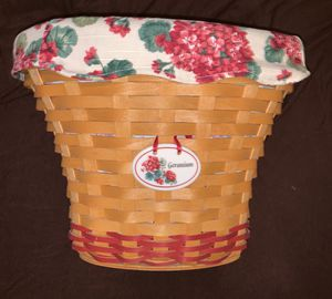2002 Geranium Basket- Bonnie Longaberger for Sale in Orlando, FL