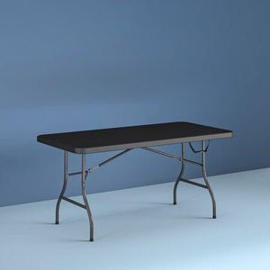 Plastic black folding table for Sale in Houston, TX
