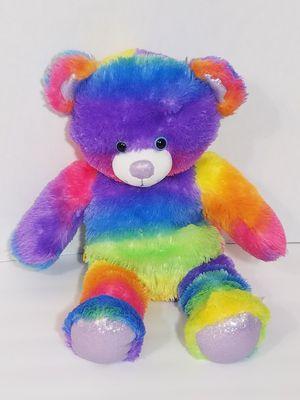 "Tye Dye Rainbow Build A Bear Workshop 16"" Teddy Stuffed BABW multicolored Toy for Sale in Dale, TX"
