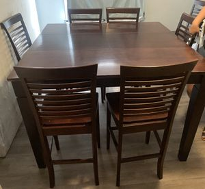 Brown Solid Wood Bar Height Dinning Kitchen Table for Sale in Riverside, CA
