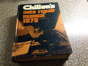 Chillon's Auto Repair Manual. 1973 for Sale in Creve Coeur, MO
