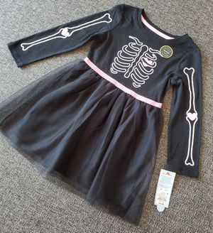 New 4t girls Halloween dress&tights $15. for Sale in Fresno, CA