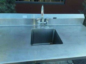 COMMERCIAL WORK TABLE WITH SINK for Sale in Glendale, AZ