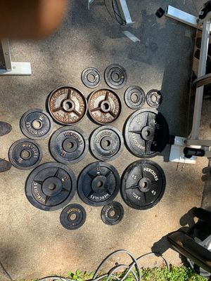 Weights, bench, bar for working out for Sale in Lawrenceville, GA