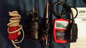 Car code reader, soldering iron, 2 sets of electric pencil engravers for Sale in Gresham, OR