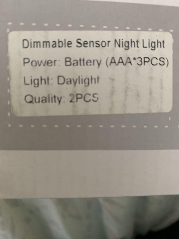 LED Motion Sensor Wall Light - Smart Lights LED Night Light Cordless Battery Powered Lamp Stair Closet Cabinet Light for Hallway Bathroom Bedroom Kit