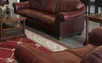 Three Piece Matching Leather Set Couch Loveseat And Recliner for Sale in Windermere,  FL
