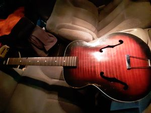 1940s 50s Harmony Monterey USA MADE acoustic guitar vintage tiger sunburst for Sale in St. Louis, MO