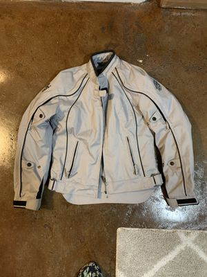Fieldsheer Women's Motorcycle Jacket, Small, Gray for Sale in San Francisco, CA