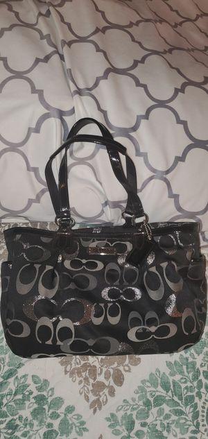Black & silver print Coach purse for Sale in Alexandria, VA