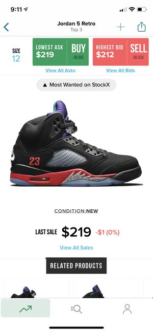 JORDAN 5 Top 3s Brand new (SIZE 12) for Sale in San Leandro, CA