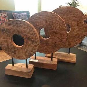 Teak wood decor set 3 pcs - outdoor - patio - reclaimed wood furniture - garden - rustic for Sale in Windermere, FL