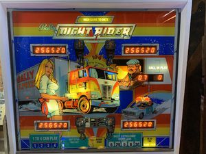 1977 Solid State Bally Night Rider Pinball Machine 70% Restored for Sale in Highland, CA