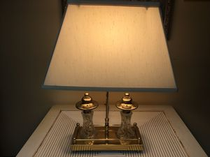 Brass and Crystal Table Lamp for Sale in Holmdel, NJ