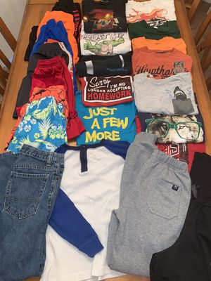 Boys Size 10/12 - 23 pieces- Shirts, Shorts, Bathing suits, Pants, Joggers for Sale in Cape Coral, FL