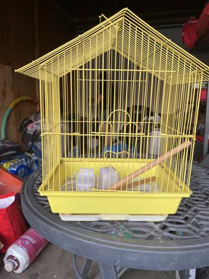 Yellow bird cage for Sale in Fontana, CA
