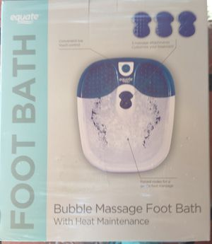 Equate Bubble Massage Foot Bath with Heat Maintenance and 3 Massage Attachments for Sale in Kissimmee, FL