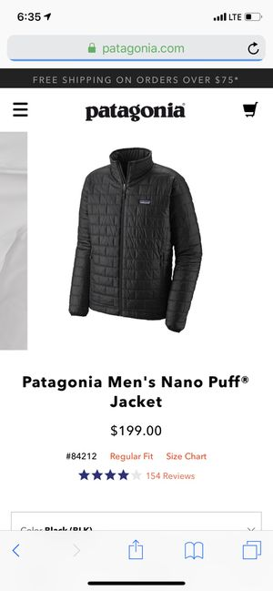 Patagonia Nano Puff Jacket for Sale in Sunnyvale, CA