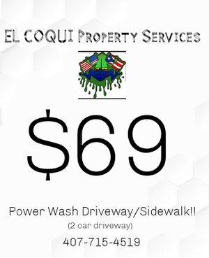 Pressure washing driveway/sidewalk for Sale in Orlando, FL