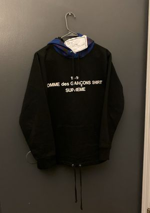 Supreme x CDG FW15 Hooded Sweatshirt (Black & Blue Plaid) for Sale in Aurora, IL