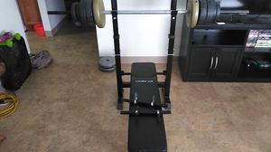 Work out bench and weight set for Sale in Pawtucket, RI