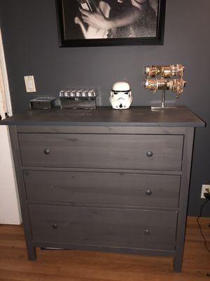 Dark gray wood dresser for Sale in San Diego, CA