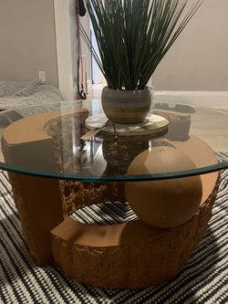 Heavy Stone And Glass Coffee Table. for Sale in Cuyahoga Heights,  OH