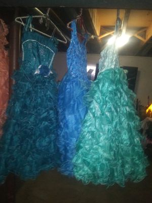 GIRLS SIZE 10 BALLGOWNS for Sale in Denver, CO