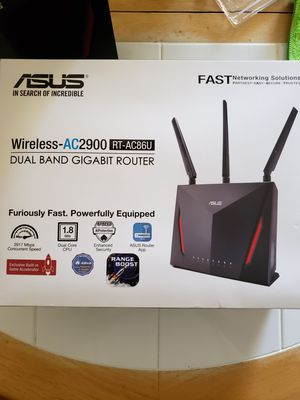 ASUS AC2900 RT-AC86U WIRELESS ROUTER for Sale in Chula Vista, CA