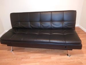 Leather futon / bed for Sale in Sebring, FL