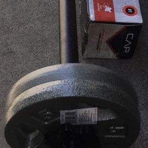 Weights 4x5lb plates with a straight bar for Sale in Covina, CA