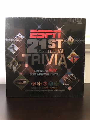NEW 2007 ESPN 21st Century Sports Trivia Board Game - USAopoly SEALED - NFL, NBA, MLB for Sale in Wheaton, IL