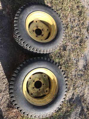 John Deere 110 112 140 210 212 214 300 314 316 318 rear tires for Sale in Bristol, CT