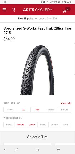 Specialized mountain bike tires &seat for Sale in Fresno, CA
