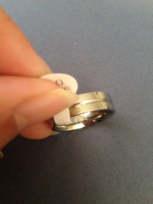 Men's fashion stainless steel wedding band marked I love u size 10 for Sale in Moreno Valley, CA