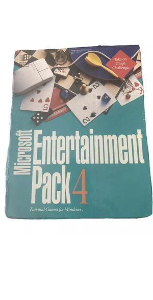 "Microsoft Entertainment Pack 4 Windows computer games 3.5"" discs Original Box! for Sale in Huntington Beach, CA"