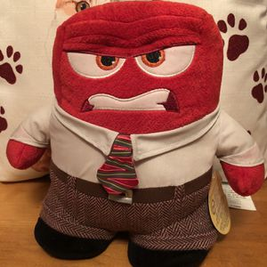 Disney Store Inside Out RED ANGER CHARACTER Plush STUFFED ANIMAL Toy for Sale in Waukegan, IL