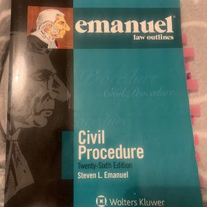 Emanuel Law Outlines. Civil Procedure I - Wolters Kluwer for Sale in Glendale, CA