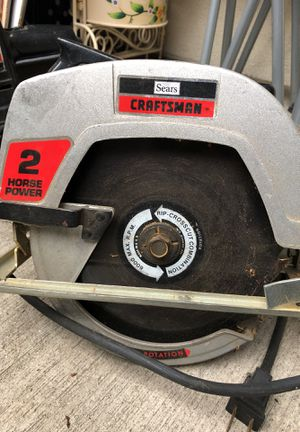 CRAFTSMEN SAW-2 horsepower, crosscut combination for Sale in Portland, OR