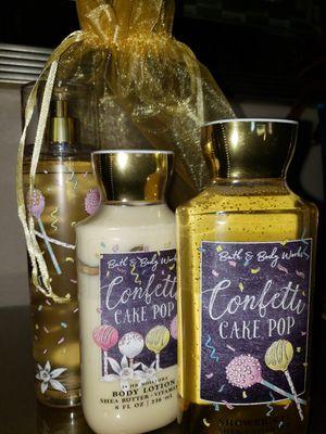 4 pc NEW Bath & Body Works GIFT SET Confetti Cupcake **Originally $55** Fragrance Mist + BODY LOTION + Shower Gel + Organza bag for Sale in Las Vegas, NV