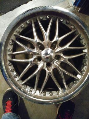 5x100 18in chrome rims for Sale in Tampa, FL