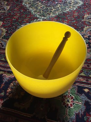 """TopFund """"E"""" Note Crystal Singing Bowl for Sale in Mountlake Terrace, WA"""