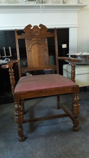 Vintage Wooden Throne Chair for Sale in Atlanta, GA